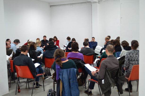 Reading by Will Holder, Falke Pisano and Riet Wijnen for Conversation Four: First Person Moving